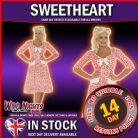 FANCY DRESS COSTUME # LADIES 1940s WW2 40s SWEETHEART COSTUME MED 12-14